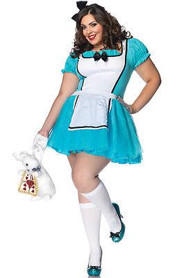 Enchanted Alice Costume (Enchanted Alice Wonderland Adult Costume,)