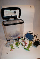 Two Gallon Fish Tank, Aquarium with Pump, and Accessories!