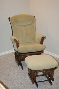 Rocking/Gliding chair and ottoman