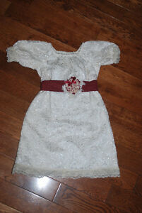 Custom Lace Christmas Holiday Peasant Dress - 4 &6