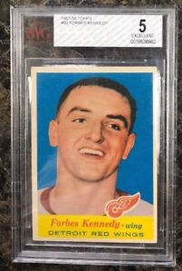 FORBES KENNEDY - 1957-58 Topps -ONLY ROOKIE CARD - BVG 5 & PSA 7