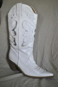 White Ladies Cowboy Boots