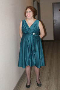 Party dress in Teal