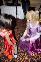 Book a birthday party with princess Rapunzel!