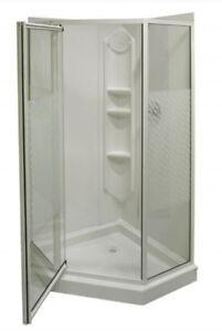 Used MAAX Neoangle Corner Shower Kit