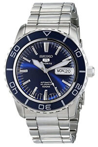 Seiko 5 sport Automatic Dark Blue Dial Stainless Steel Watch