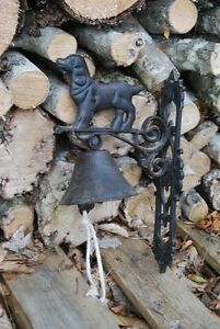 Metal bell with dog