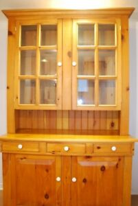 Solid Pine China Cabinet hand crafted by Menonites