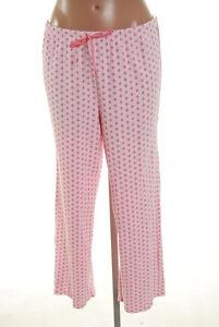 Alfani Intimates Pink Flower Ribbon Lounge Pants Pajama Large