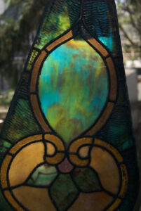 Gorgeous ANTIQUE LEADED GLASS panels from church