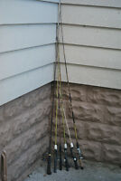 SEVEN FISHING RODS! $5 each $35 for ALL of them (NO REELS)