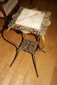 Antique Victorian PLANT STAND Brass & Marble - gorgeous ! West Island Greater Montréal image 2