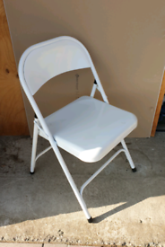 **£8** White Metal Chair (4 Available)