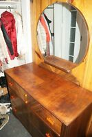Vintage 1930s Art Deco VANITY dresser with mirror commode vanité