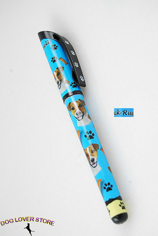 Jack Russell Terrier Dog Pen Replaceable Ballpoint Black Ink