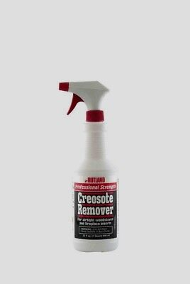 RUTLAND Liquid Chimney Treatment Creosote Remover Cleaner 1 Qt Spray Bottle 97L Chimney Creosote Removal