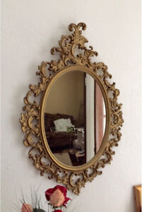 Miroir Antique travailler, large French Baroque style mirror