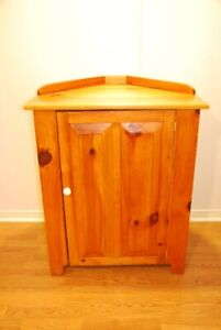 Solid Pine Corner Cabinet hand crafted by Menonites