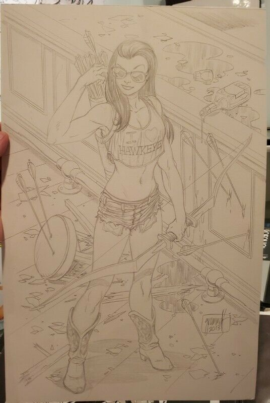 Tom Grummett Kate Bishop Hawkeye 11x17 Original Art