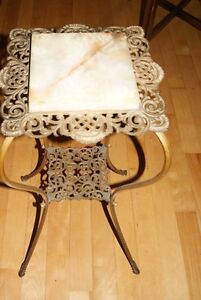Antique Victorian PLANT STAND Brass & Marble - gorgeous ! West Island Greater Montréal image 5