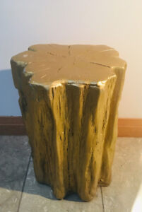 End table, Log table, Gold table, column, Designer end table