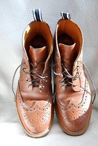 "Oliver Spencer 6"" High Long Wing Brogue Boot"