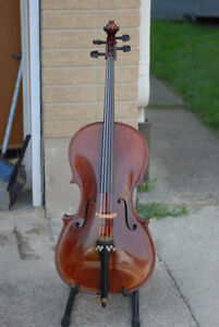 quarter size cello , handmade whole solid wood ,beautiful sound Stratford Kitchener Area image 1