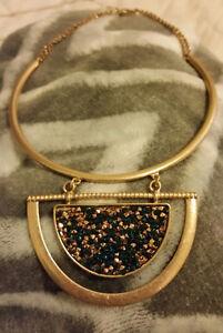 Imitation Druzy Stone Necklace