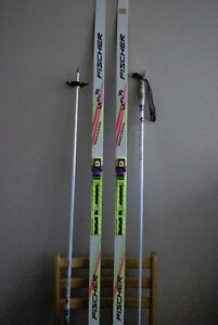 FISCHER RCS Skate skis 155 cm / 041660 with Rossignol bindings (
