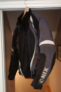 Motorcycle jacket, ONIX armored mens, approx size XL
