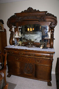 ANTIQUE VICTORIAN SIDEBOARD CA 1860'S
