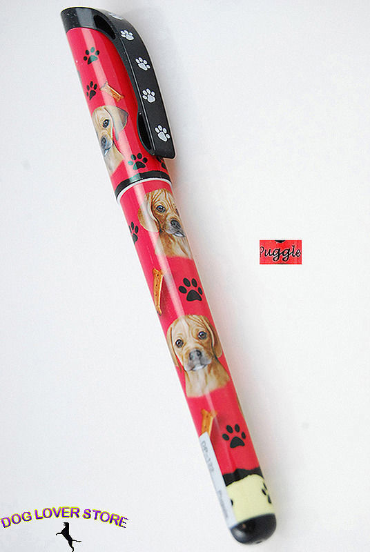 Puggle Dog Pen Replaceable Ballpoint Black Ink