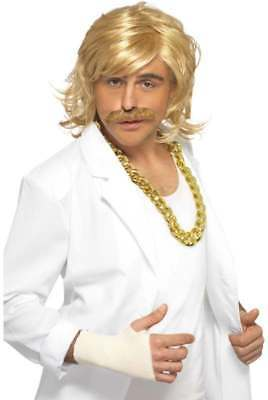GAME SHOW HOST KIT, WIG AND TASH (TV FANCY DRESS WIGS)