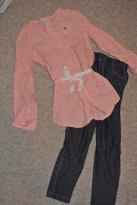 Adorable Carter's Size 6X Blouse and Leggings Outfit