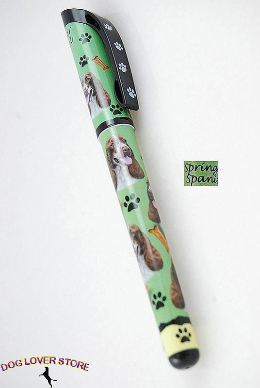 Springer Spaniel Dog Pen Replaceable Ballpoint Black Ink