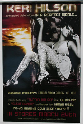 KERI HILSON In A Perfect World... 2009 2 SIDED POSTER 17x11