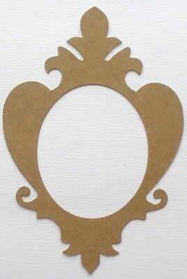 {3} ELEGANT FRAME - Fancy Scroll Picture Frames Chipboard Die Cuts - 6 1/8