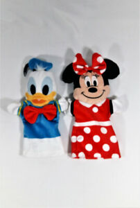 Donald Duck and Mini Mouse Hand Puppets Disney Characters 2 Pc