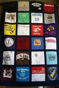 Memory and t-shirt quilt made to order