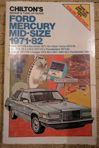 Chilton's Repair & Tune-Up Guide, Ford, Mercury, Mid-Size, 1971-