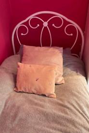 Single bed and mattress. Next Primrose.
