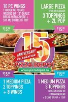 Pizza Depot 15th Anniversary