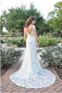 Allure 8856 Wedding Dress with Cathedral Veil