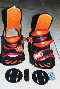 Elan snowboard bindings design by asobi Brand New Never Used