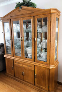 Classic Solid Wood Display Cabinet