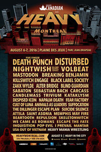 HEAVY MTL Weekend pass 99$ Only! HEAVY MONTREAL