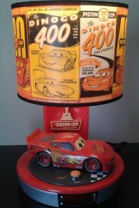 Disneys lightning McQueen Red Race car lamp, electric