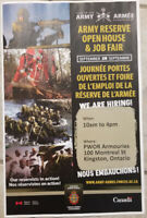Canadian Army Reserve Job Fair Open House