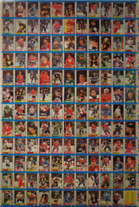 1989-90 O-PEE CHEE HOCKEY UNCUT SHEET 132 CARDS NM JOE SAKIC RC.