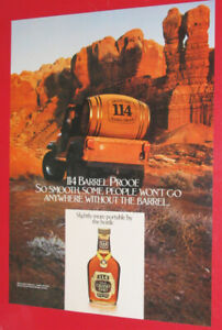 1982 OLD GRAND DAD 114 WHISKEY AD WITH JEEP CJ - VINTAGE RETRO